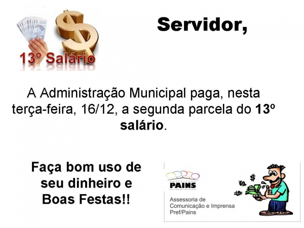 Comunicado - 2ª parcela do 13º Salário